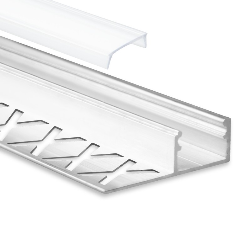 Led Aluminium Fliesenprofil F2 Alya 2 Meter Inkl Abdeckung Opal