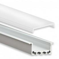 PN5 Bunda C1 Aluminium Profil f. LED Streifen 2m + Abdeckung Opal