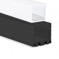 P8 Kocab IP65 Aluminium Profil Schwarz inkl. Abdeckung Opal