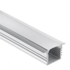 PL3 Glanfar Aluminium Profil f. LED Streifen 1m/2m + Abdeckung opal/klar
