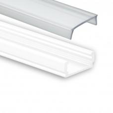 PL 1 anser mit Abdeckung 2 meter Weiß Pulverbeschichtigt mit  klare abdeckung