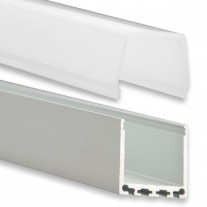 PN6 Chort C2 Aluminium Profil f. LED Streifen 2m + Abdeckung Opal