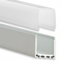 PN6 Gianfar C3 Aluminium Profil f. LED Streifen 2m + Abdeckung Opal