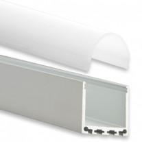 PN6 Nunki C4  Aluminium Profil f. LED Streifen 2m + Abdeckung Opal