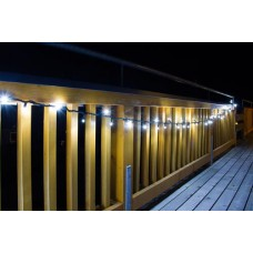 100 LED Lichterkette inkl. 10 FLASH LED 10 meter Weiss 5 Watt koppelbar