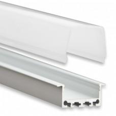 PN5 Atik C2 Aluminium Profil f. LED Streifen 2m + Abdeckung Opal