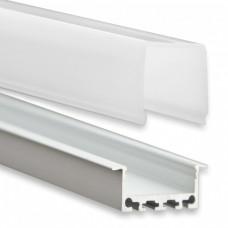 PN5 Regor C3 Aluminium Profil f. LED Streifen 2m + Abdeckung Opal
