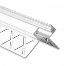 LED Aluminium Fliesenprofil Außeneck F5 Salph 2 Meter inkl. Abdeckung Opal/Klar