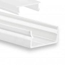 P21 Naos LED Aluminium Profil Weiß inkl. Abdeckung Opal Profilbündig