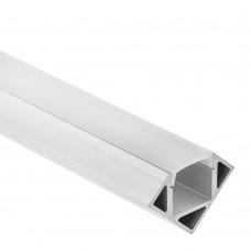 P23 Pollux Aluminium Profil f. LED Streifen 1m/2m + Abdeckung opal/klar