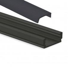 PL 1 Anser mit schwarzer Abdeckung 2 Meter Schwarz Pulverbeschichtigt