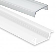 PL 8 Subra Weiß mit Abdeckung 2 Meter Klar