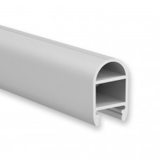 P1 Elektra LED Aluminium Profil Kleiderstange inkl. Abdeckung Opal & 2 Halterungen