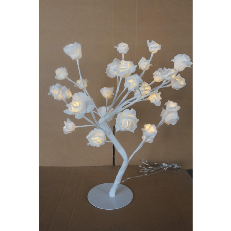 led lichterbaum 45cm mit rosen 32 led warmwei innen rosenbl ten figuren weihnachten led. Black Bedroom Furniture Sets. Home Design Ideas