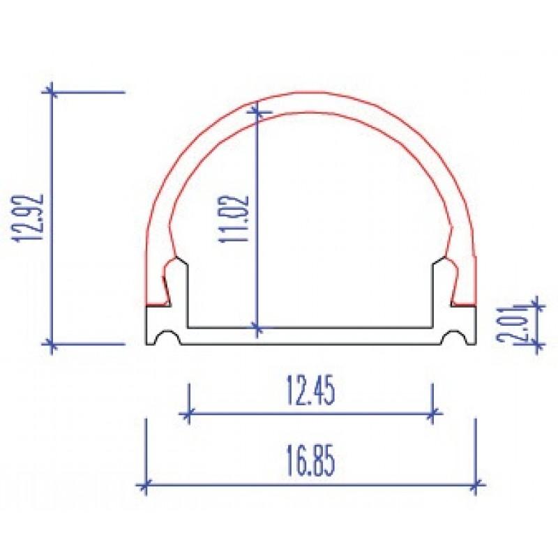 led strip profiel p16