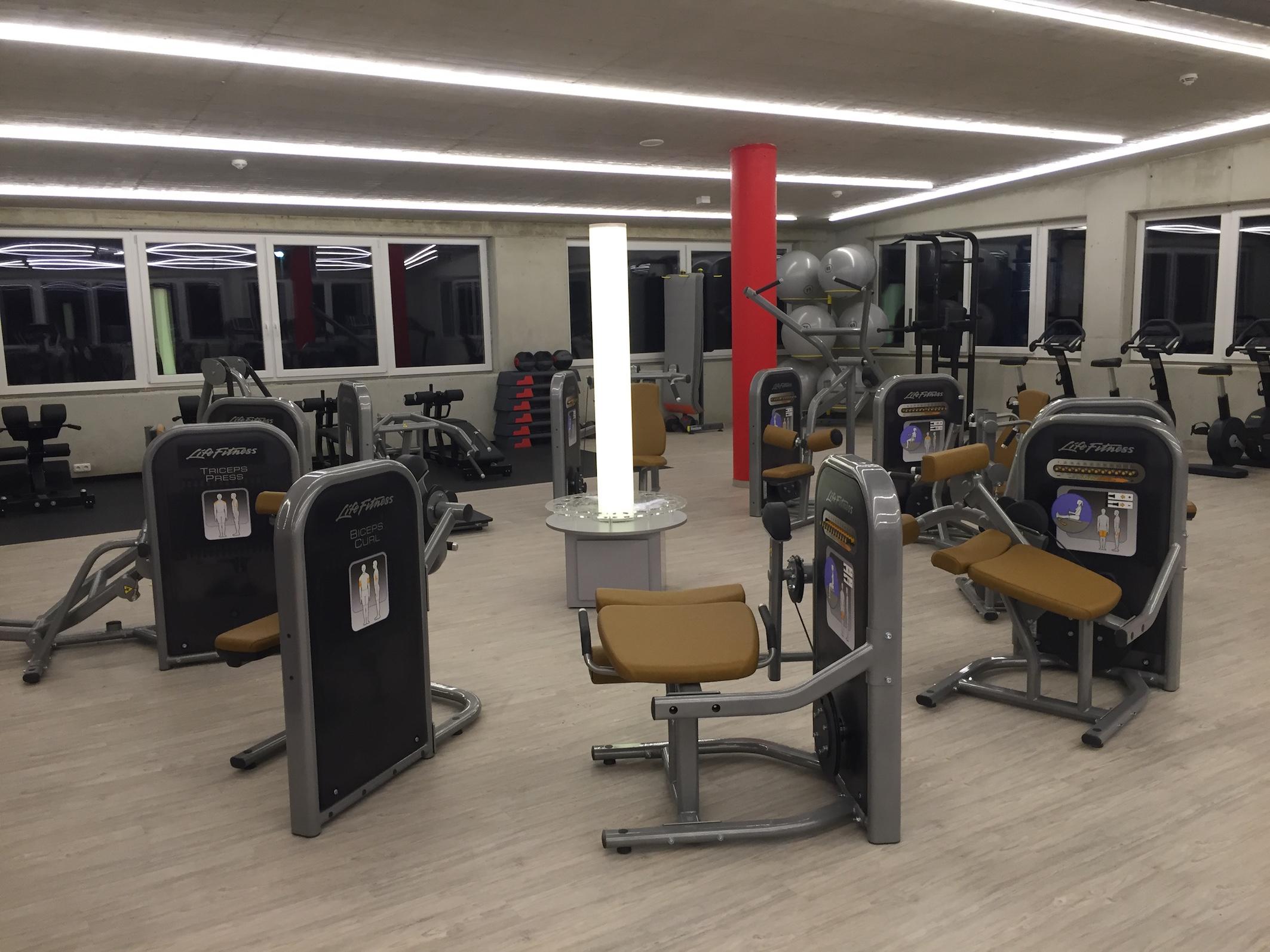 Fitnesscenter LED-Projekt