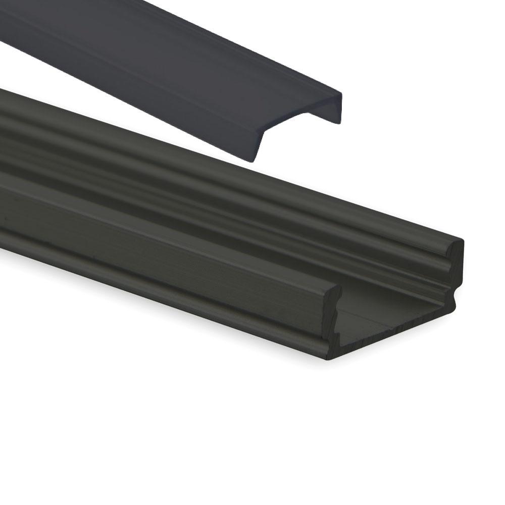 LED Profil schwarze Abdeckung
