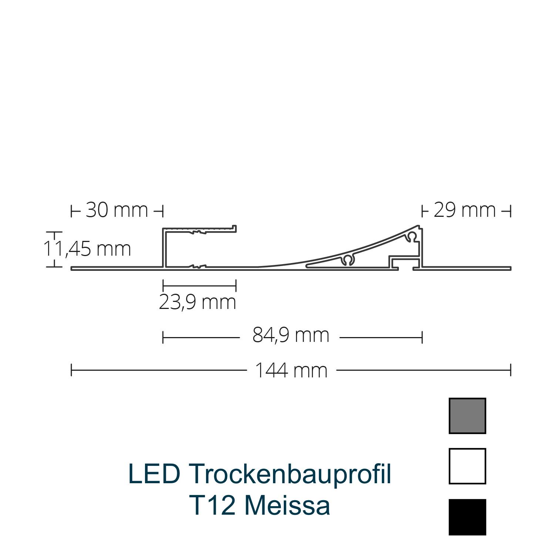 T12 LED-Trockenbauprofil