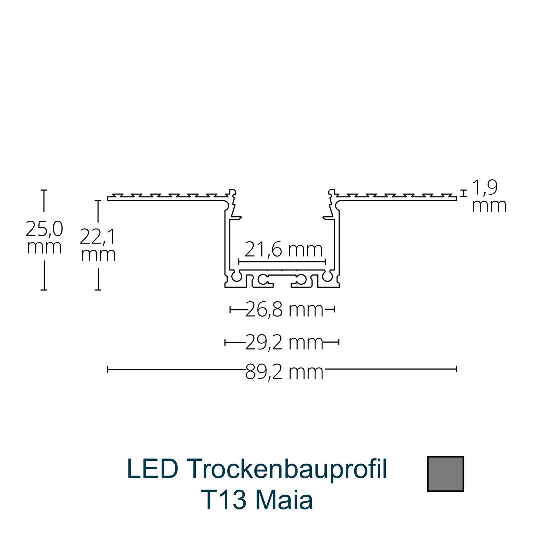 T13 LED-Trockenbauprofil