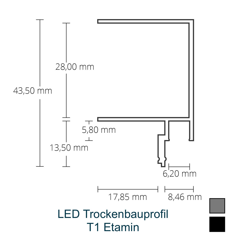 T1 LED-Trockenbauprofil