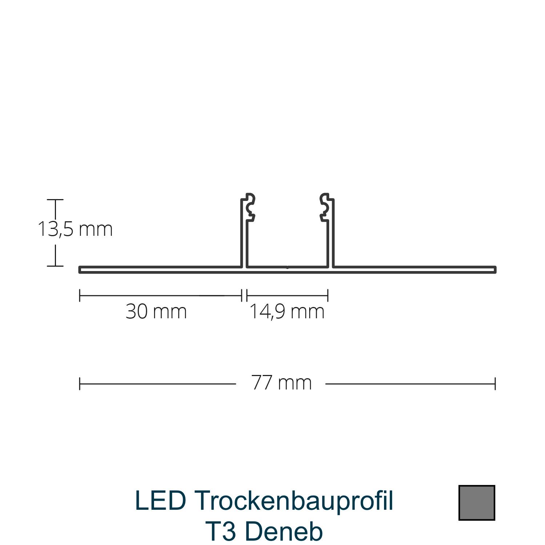T3 LED-Trockenbauprofil