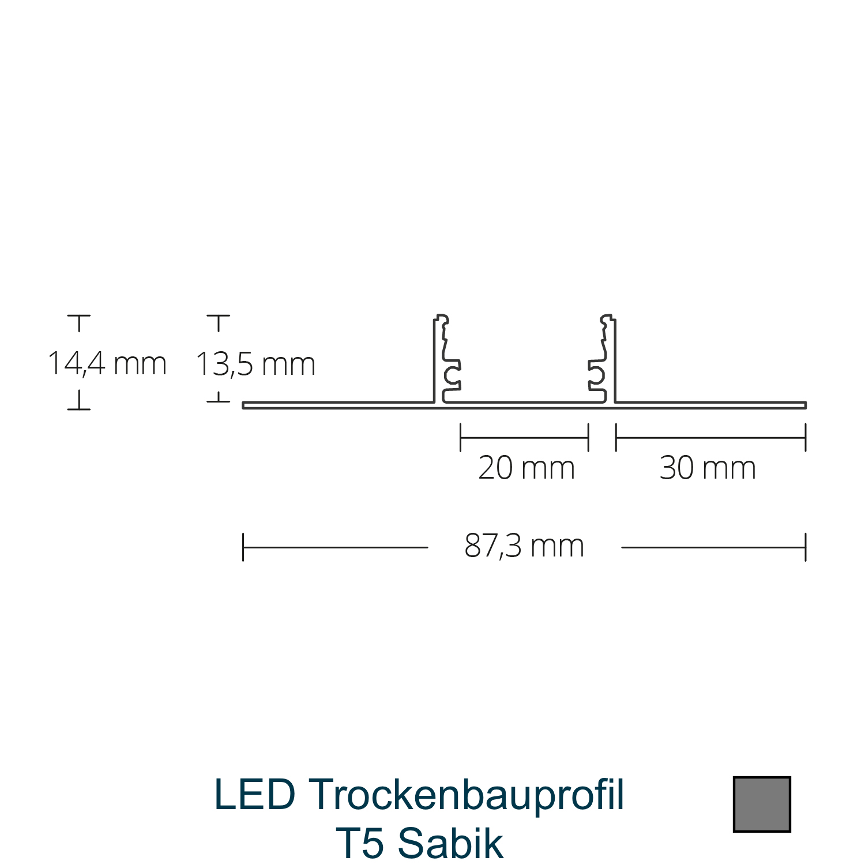 T5 LED-Trockenbauprofil