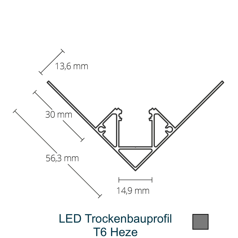 T6 LED-Trockenbauprofil